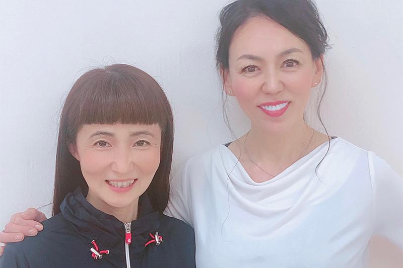 生徒の望月 千文さんとアキ・ソラーノ