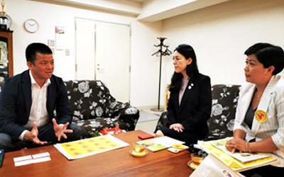 アキ・ソラーノ児童養護施設社会福祉法人大阪西本願寺 常照園 表敬訪問